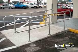 handrail height ada aluminum ada handrail ideal shield
