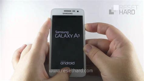 reset on samsung a3 how to hard reset samsung galaxy a3 youtube
