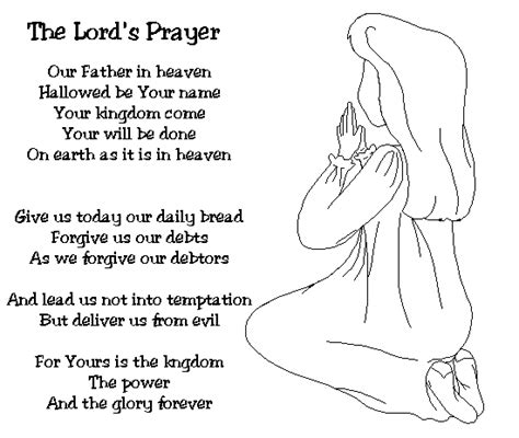 free coloring pages of the lords prayer