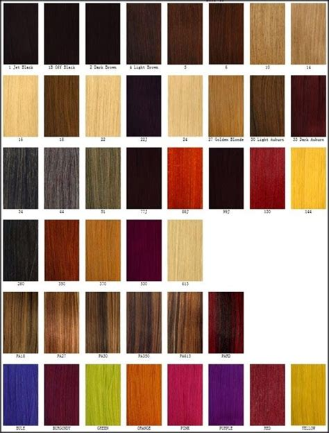 clairol professional flare hair color chart basis color chart different blonde brown red dark hair