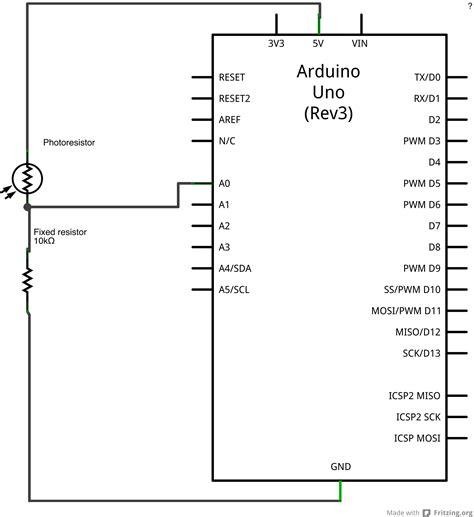 resistors in analog circuits arduino analoginput