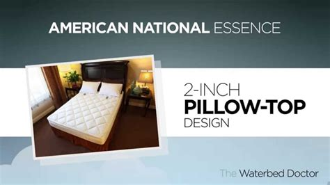 american national essence soft side waterbed mattress offered by the waterbed doctor