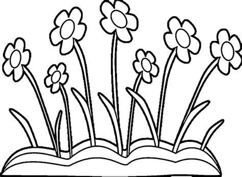 bunga matahari lucu contoh gambar mewarnai  hitam putih