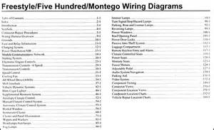 2007 freestyle 500 montego wiring diagram manual original