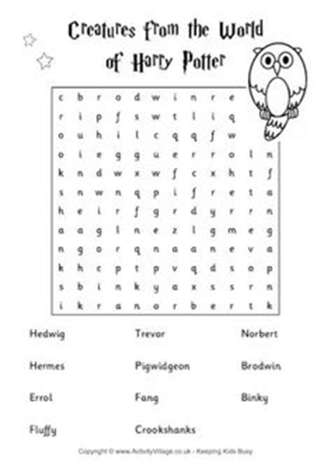 #harrypotter FREE word search puzzle and planning ideas