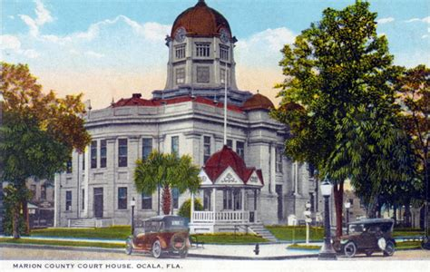 Marion County Fl Court Records Florida Memory Marion County Court House Ocala Florida