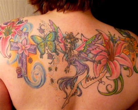 tattoo flower fairy 56 fairy tattoos on back