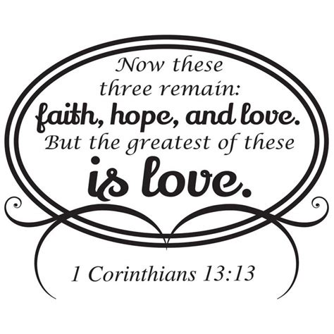 faith hope amp love 1 corinthians 13 13 wall decal