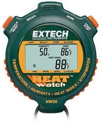 Extech Stopwatch Heat Index Hw30 hw30 heatwatch humidity temperature stopwatch
