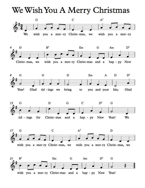 we wish you a merry christmas choir sheet music