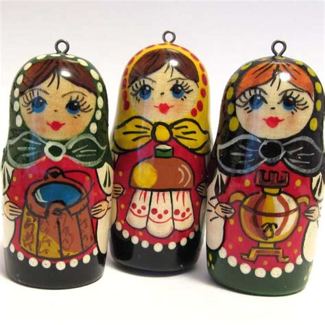 ornaments set russian matryoshka russian christmas