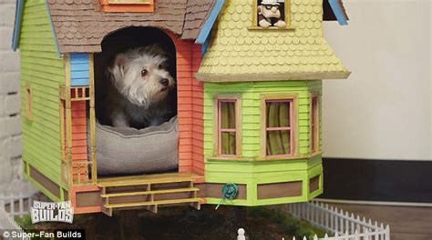 house of a dog is called incredible floating replica of the balloon home from pixar s up daily mail online
