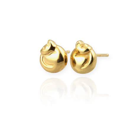 cat stud earrings by reinhardt jewellery