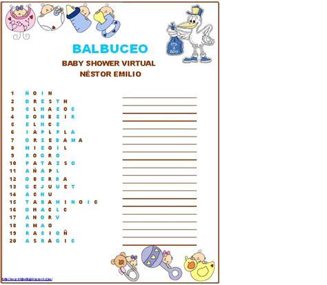 preguntas juego baby shower sopa de letras con respuesta para baby shower imagui
