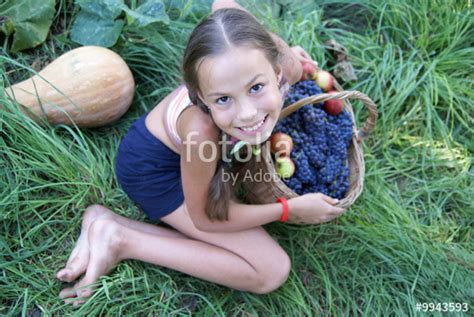 similar sites pimpandhost quot preteen girl with basket full of organic grapes and