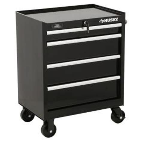 husky 27 in w 4 drawer tool cabinet black h4tr1r the