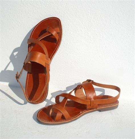 Handmade Leather Sandals - handmade grecian leather sandals