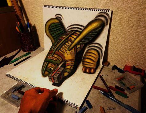 cool 3d pencil drawings mind blowing 3d pencil drawings by nagai hideyuki