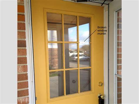 replace  glass frame   exterior door