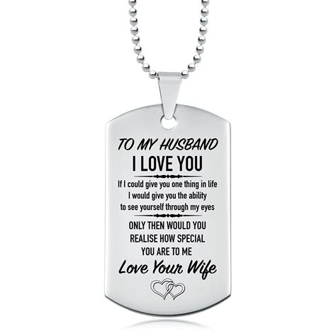 to my tag to my husband i you tag personalised engraved