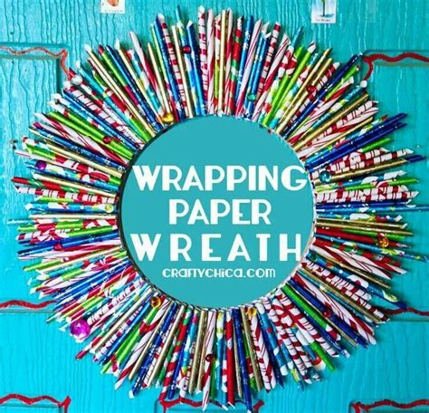 Wrapping paper wreath wreaths pinterest