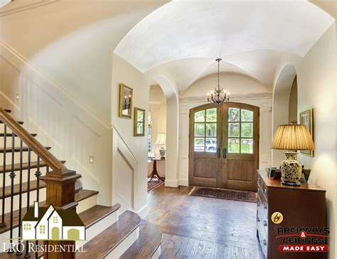 archways and ceilings foyer groin vault ceiling traditional entry dallas