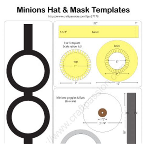 minion mask template minions hat diy pattern tutorial craft