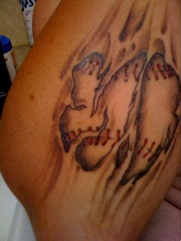 exotic tattoos for men cool baseball tattoos ideas 3d baseball