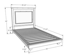 double bed dimensions in feet ana white fillman platform