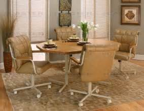 Caster Chairs Dining Set Caster Chair Company 5 Caster Dining Set With Swivel Tilt Caster Chairs Ebay