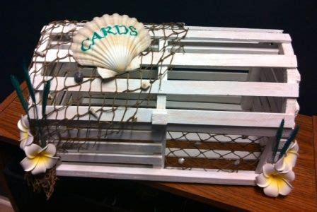 DIY Lobster Trap Card Box   Weddingbee Photo Gallery