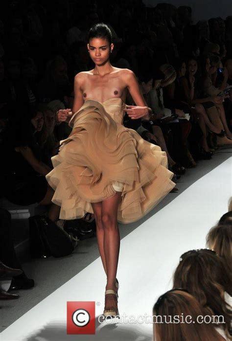 Runway Models Wardrobe Malfunction by Mercedes Img New York Fashion Week Summer 2011