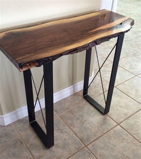 live edge console table console tables