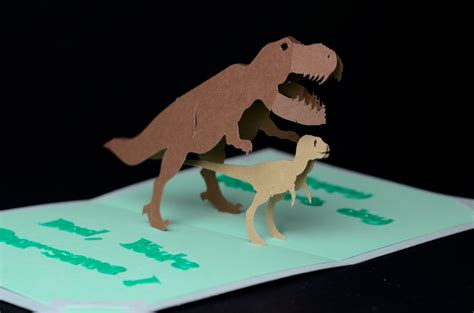 Dinosaur Pop Up Card Template dinosaur pop up card template