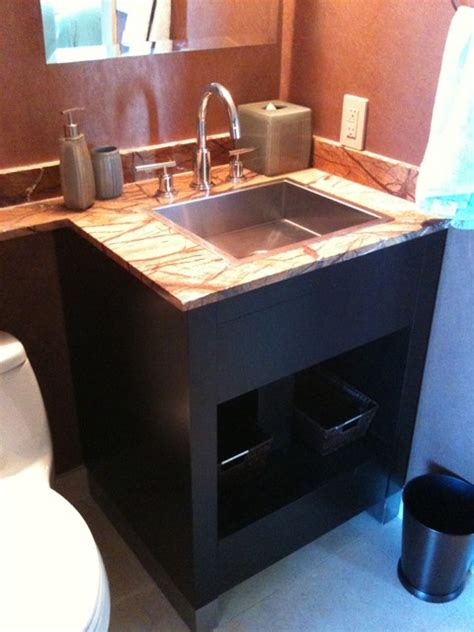 Modern Powder Room Vanity