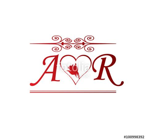 S R M quot ar initial with and quot stock image and