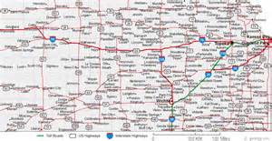 colorado kansas map map of kansas cities kansas road map