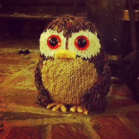 how to knit a owl free tweed owl knitting pattern