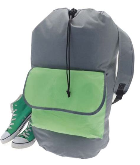 storage solutions laundry backpack duffel bag green