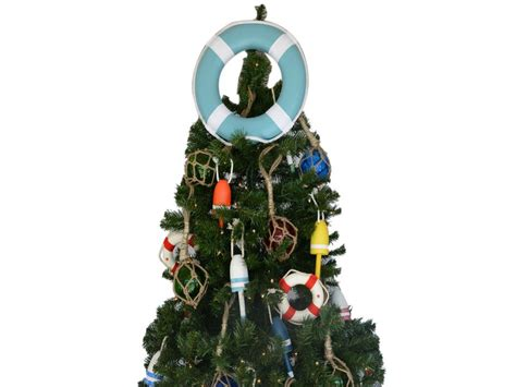 buy light blue lifering with white bands christmas tree