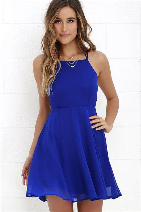 43564 Blue Royal Lace S M L Dress Le230517 Import royal blue dress lace up dress backless dress