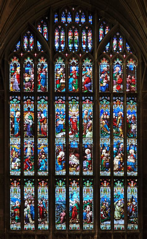 The Of The West Window file gloucester cathedral 06 west window william wailes crop jpg wikimedia commons