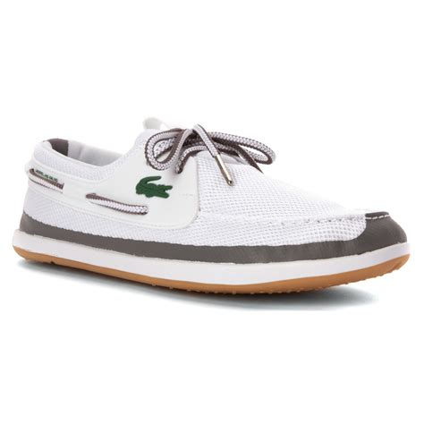 L Rei by Lacoste L Andsailing Rei Boat Shoe In White For Lyst