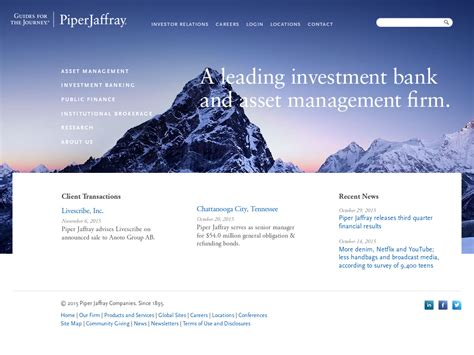 Piper Jaffray Investment Banking Associate Mba by Piper Jaffray Company Profile Revenue Number Of
