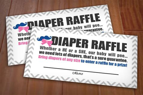 fun printable raffle tickets beau or bow raffle printable ticket in pink and navy instant