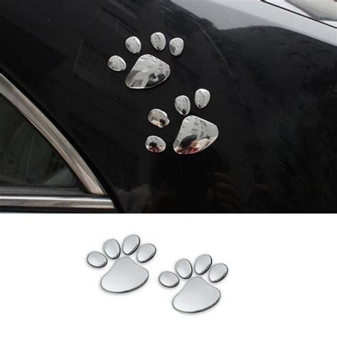 printable mirror vinyl 3d paw decals top pet gifts