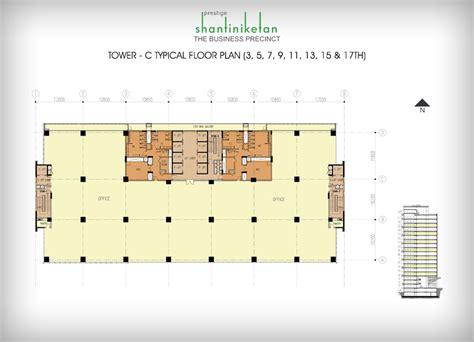 prestige shantiniketan floor plan prestige shantiniketan tower c typical 3rd 17th floor plan