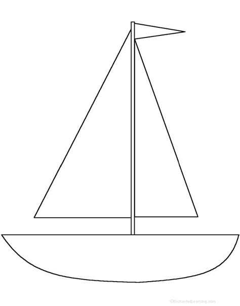 sailboat template for preschool 17 best images about stuff on crafts