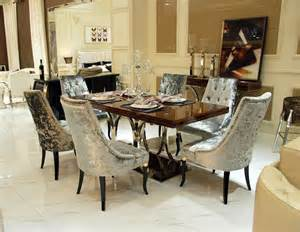 marbre rectangulaire moderne table 224 manger et chaises