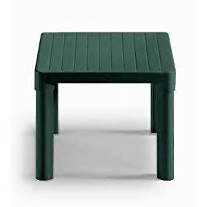 tip square plastic side table colour forest green amazon